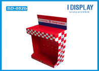 Retail Shop Cardboard Peg Hook Display Rack / Pop Up Cardboard Display Stands
