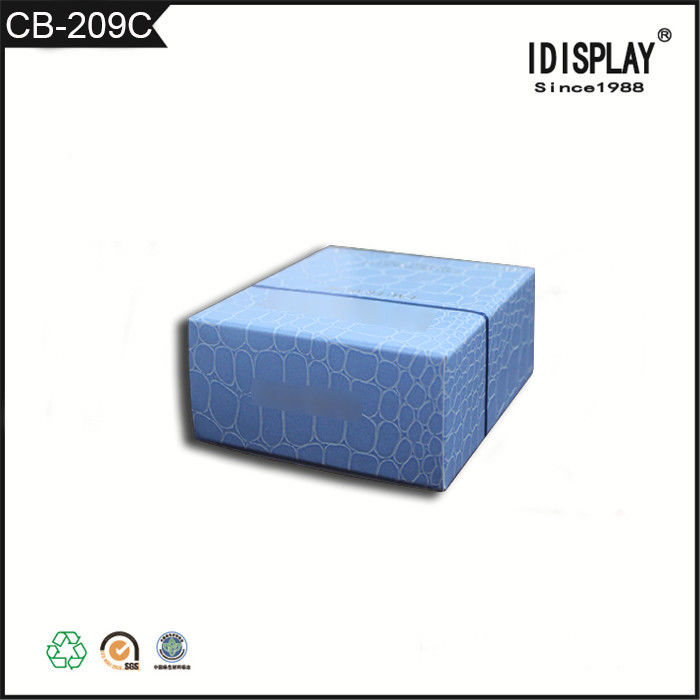 Promotional Beautiful Blue Cardboard Boxes , Fancy Paper Gift Box For Hand Cream